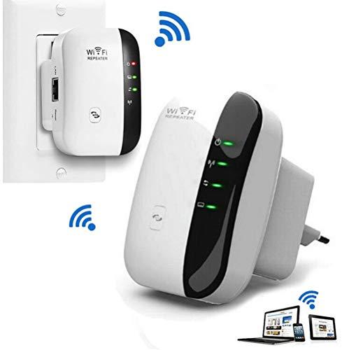 Wifi Booster WiFi Signal Range Extender 300Mbps Wireless Repeater ingebouwde antenne Ethernet LAN-poort 2,4 GHz versterker voor Router WPS met Wall Plug Thuis Huis Kantoor Outdoor,White