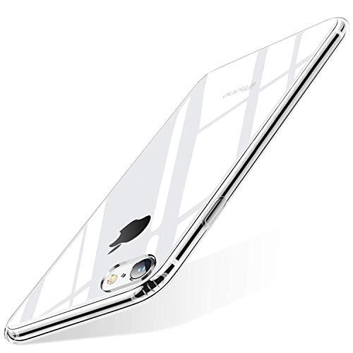 wsky Hülle Kompatibel mit iPhone SE 2020 Handyhülle Transparent, Ultra Dünn Silikon Cover, Anti-Gelb Durchsichtige Hülle, Crystal Clear Schutzhülle für iPhone SE 2020