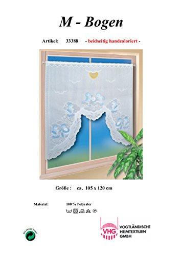 Scheibengardine M-Bogen 120 x 105 cm (BxH)