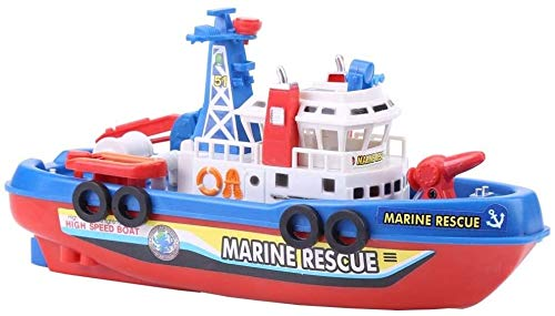 Buy Zhangl Boat Toy - Fire Boat Toy Water Spraying Ship Model Bath Toys with Sound and Flash Light f...