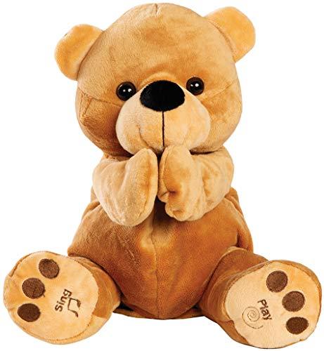 Bundaloo Animated Singing Clapping Bear Brown Plush Stuffed Animal Sing Along Toy