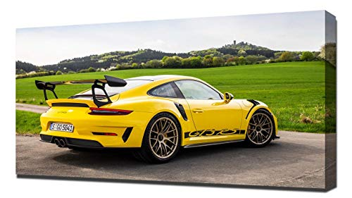 Lilarama 2019 Porsche 911 GT3 RS V12 - Art Leinwandbild - Kunstdrucke - Gemälde Wandbilder