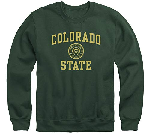 Ivysport Colorado State University CSU Rams Adult Unisex Crewneck Sweatshirt, Heritage, Hunter Green, Medium