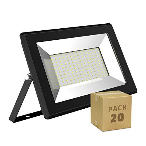 LEDKIA LIGHTING Pack Projecteur LED Solid 100W (20un) Blanc Chaud 3000K
