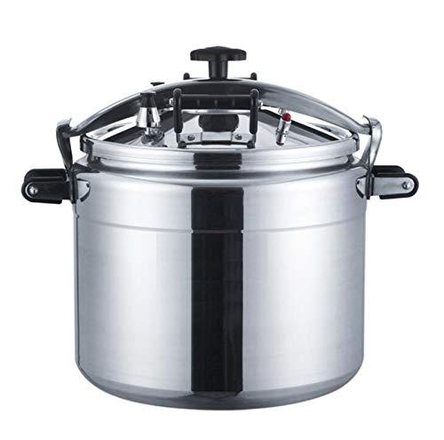 Kommerzielle groß Kapazitäts-Pressure Cooker, 18L-70L Aluminium Offene Flamme Cooker Universal-Instant-Topf, Küche Multifunktions-Slow Cooker Reiskocher Suppentopf ( Color : Silver , Size : 22L )