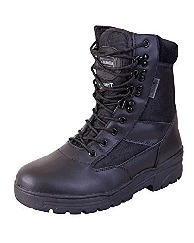 Mens Combat Military Black Army Patrol Hiking Cadet Work High Leather Boot...