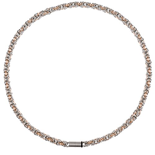 Grave Design RE catena–collana da donna in acciaio placcato oro 45cm 5,00mm larghezza k186.45