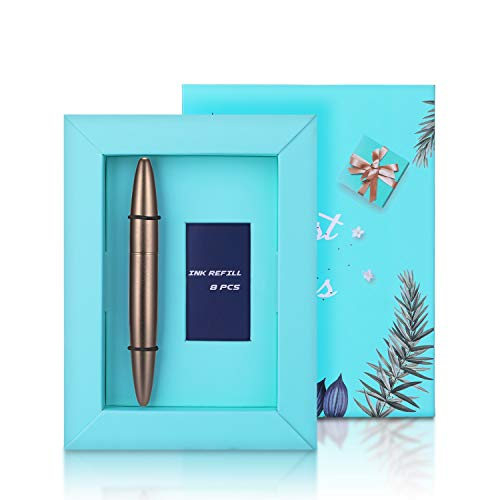 Ancolo Luxury Fountain Pen Fine Nib Modern Fashion Design with 8 Free Black Ink Cartridges & Ink Refill Converter -Smooth Writing set - Perfect for Teacher/Manager/Lawyer/Professor