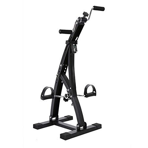 Bicicleta estática de Pedales, ejercitador de Pedales, Bicicleta de Brazos y piernas, Doble Pedal, máquina de Ejercicios de Interior de Brazos y piernas de Resistencia Ajustable, Bicicleta estática e