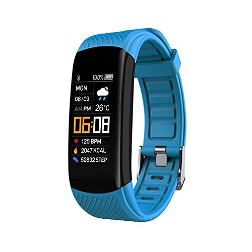 HJYBYJ Pulsera De Banda Inteligente IP67 Impermeable Deportes Fitness Tracker Presión Arterial Perómetro Corazón Reloj De Fitness Al Aire Libre (Color : Green)