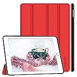 EasyAcc Hülle Kompatibel mit iPad Air 2, Ultra Slim Cover Schutzhülle PU Lederhülle mit Standfunktion/Auto Sleep Wake Up Funktion Kompatibel mit iPad Air 2 2014 Modell Number A1566/A1567 - Rot