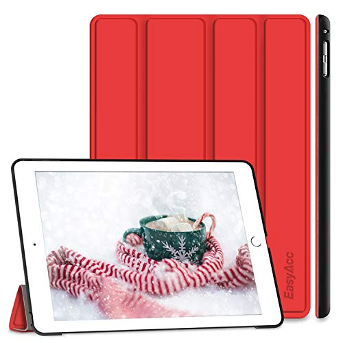 EasyAcc Case Compatible with iPad Air 2, Ultra Slim Cover Protective PU Leather Case with Stand Function/Auto Sleep Wake Up Function Compatible with iPad Air 2 2014 / iPad A1566/A1567 - Red