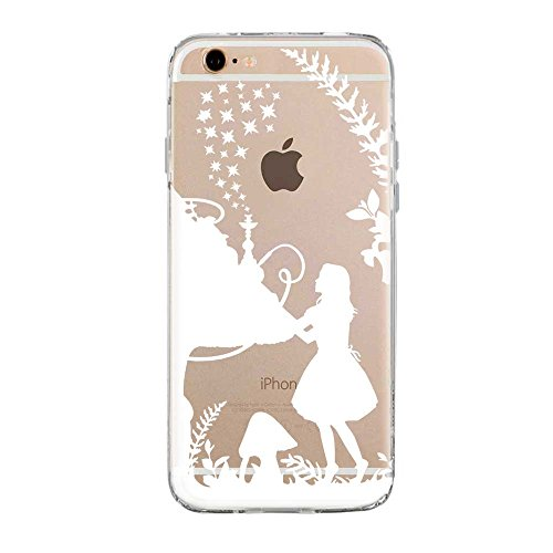 SLIDE 6 6S TPU Funda Gel Transparente Carcasa Case Bumper de Impactos y Anti-Arañazos Espalda Cover, Cartoon, Dibujos Animados, Special Colección Collection, Alicia White, iPhone 6 6S