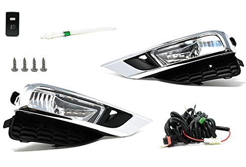 RP Remarkable Power, FL7028 Fit For 2015-16 CR-V OE Style Clear Fog Light Kit