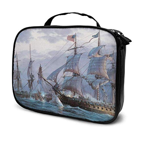 CheChenDengH Kosmetiktasche Ship Sailing Cosmetic Bag Toiletry Bag, Artist Makeup Organizer Professional Portable Storage Bag Travel Train Case With Top Handle