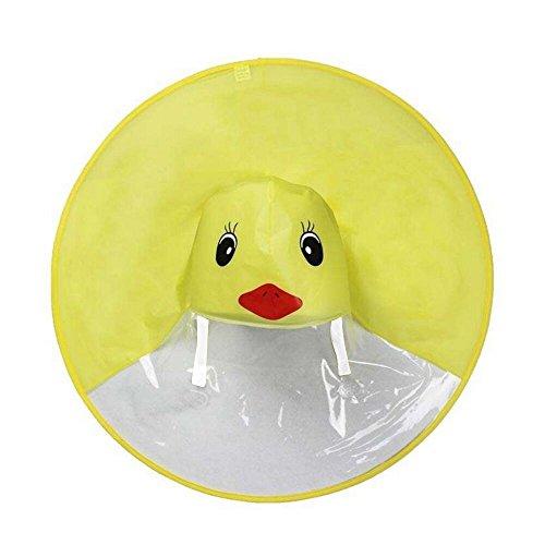 HARRYSTORE Kinder UFO Little Yellow Duck Regenmantel Niedliche Regenmantel UFO Kinder Regenschirm Hut Magisch Hände frei Regenmantel