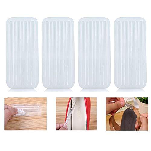 6 fogli (24 pezzi) di gel di silicone trasparente sottile autoadesivo sul tallone, per donne e ragazze, per alleviare il dolore alle scarpe con tacco alto