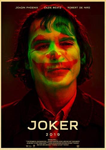 linbindeshoop Joaquin Phoenix Joker DC Movie Comics Wall Art Painting Print On Coffee Retro Poster Pictures Halloween Home Decor (LW-3810) 40x60cm No frame