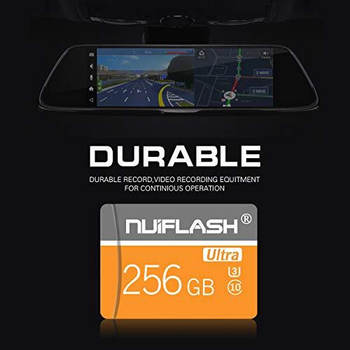 256 GB Micro SD-Speicherkarte (Klasse 10 High Speed) SD-Speicherkarte/TF-Karte mit Adapter für Kamera, Telefon, Computer, Nintendo Switch, Dash Came, Überwachung, Drohne