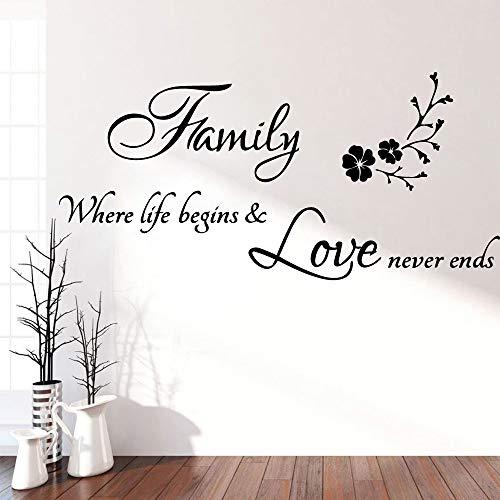 LSMYE Kreative Familie Pvc Wandkunst Aufkleber Moderne Mode Wandaufkleber für Wohnzimmer Vinyl Aufkleber Aufkleber Wandbild Braun L 43cm X 91cm