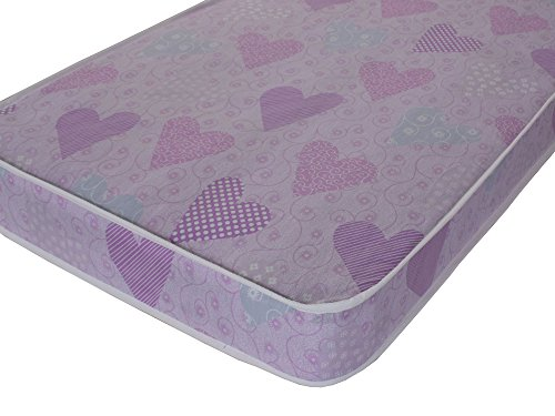 eXtreme Comfort UK ltd Basic 4' Firmer All Foam Kids Pink Mattress Girls, Ikea or European Small Single Size (80 x 200)