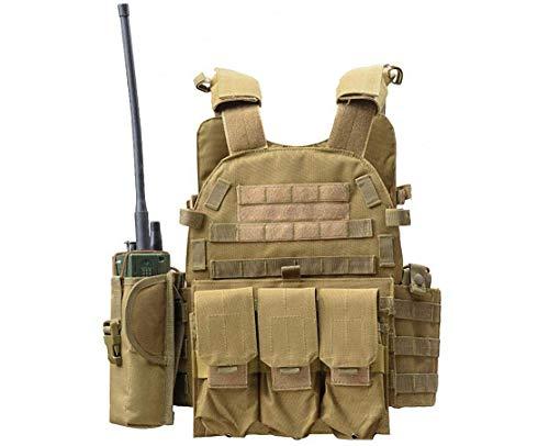 Invenko Heavy Duty Tactical Molle Airsoft Vest Paintball Combat Soft Vest (tan)
