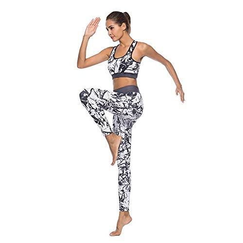 ArcherWlh Leggings Push Up Mujer De Vestir,Hot New 3D Doodle Pantalón de Chaleco de Piedra de Piedra Blanco y Negro Pantalones de Deportes de Yoga Ropa de Mujer-En Blanco y Negro_S