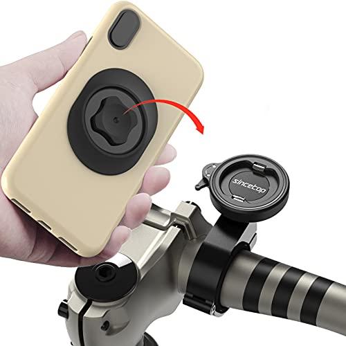 Handyhalterung Fahrrad, Handy Fahrradhalterung für Rennrad Mountainbike Fahrradlenker, Stabile Metall Handyhalter Fahrrad Handy Halterung für iPhone Samsung Google Smartphone