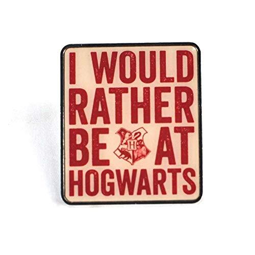 Harry Potter Badge Hogwarts Slogan Case (12) Half Moon Chiodini Spille