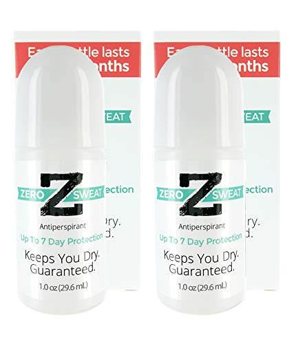 ZeroSweat Antiperspirant Deodorant | Clinical Strength Hyperhidrosis Treatment - Reduces Armpit Sweat (2 Pack)