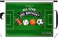 HD Boys Birthday Backdrop for Photography 10x7ft Sport Theme Soccer Football Rugby Green Field Decor Photo Background Vinyl Customized Photo Shoot Studio Props CL1328