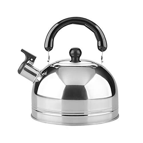 Fuyamp HughStore - Bollitore da tè, bollitore a fischio, in acciaio inox, 2 L (2 L)