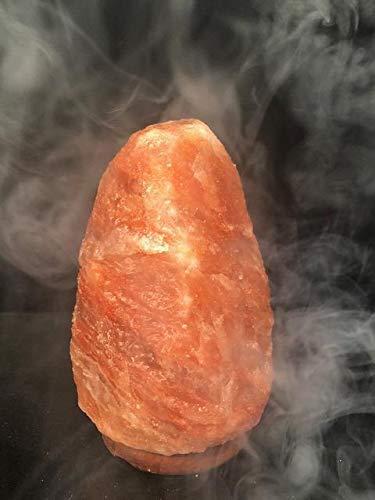 Lamparas de Roca de Sal del Himalaya 2-3 kg con base de madera con cable con apagador original 100%