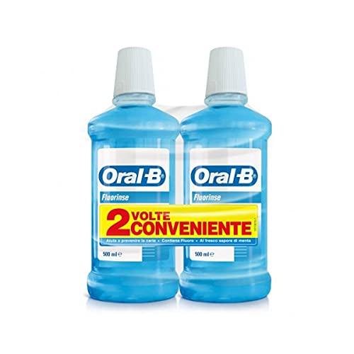 Oral-B Fluorinse Collutorio Protezione Gengive, 2 x 500ml