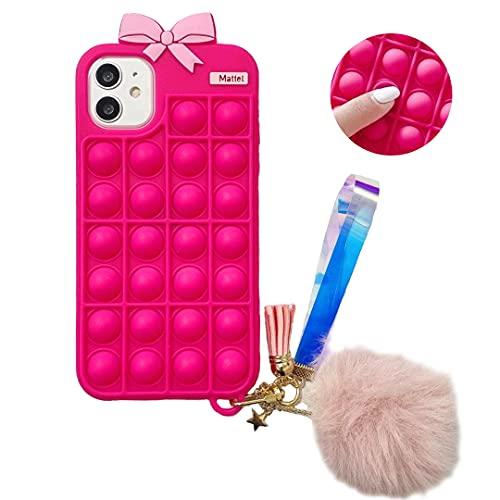 HikerClub Funda para iPhone 7 Plus / 8 Plus, iPhone 6 Plus / 6s Plus, funda de silicona suave para teléfono con diseño de mariposa, funda antiestrés a prueba de golpes para niñas