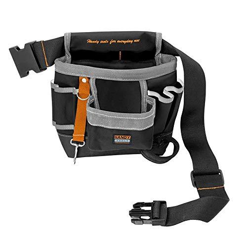 Bolsa para cinturón de herramientas – 7 compartimentos – con soportes universales y bandas de goma – Bolsa de herramientas con cinturón, estilo A
