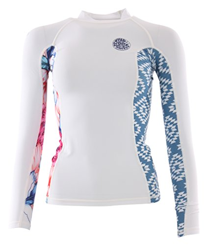 RIP CURL 2017 Ladies All over Long Sleeve Rash Vest Ibiza WLE8KW