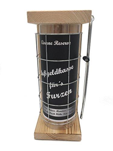 Bußgeldkasse für´s Furzen Eiserne Reserve Spardose incl. Säge zum zersägen des Gitter, Geldgeschenk, das andere Sparschwein, witzige Sparbüchse, Geschenkidee