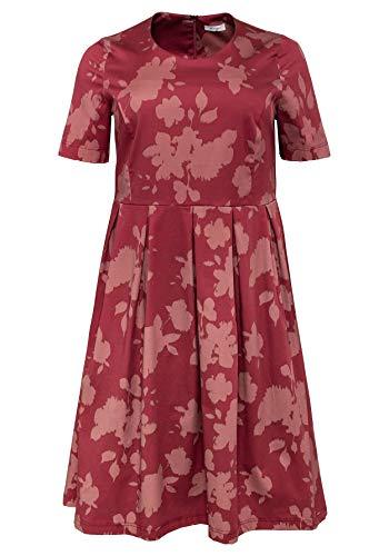 Sheego Damen Shape-Kleid mit floralem Muster rubinrot Bedruckt, 54