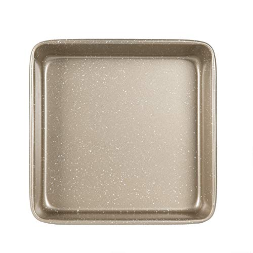 """Cook with Color Bakeware Non Stick Square Pan, Speckled 9x9"""" Baking Pan, Pan for Cooking (Champagne)"""