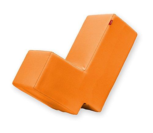 Lümmel Polsterhocker zum Sitzen, Spielen und Rumtoben - Loungemöbel & Spielmöbel für Kinder und Erwachsene - orange