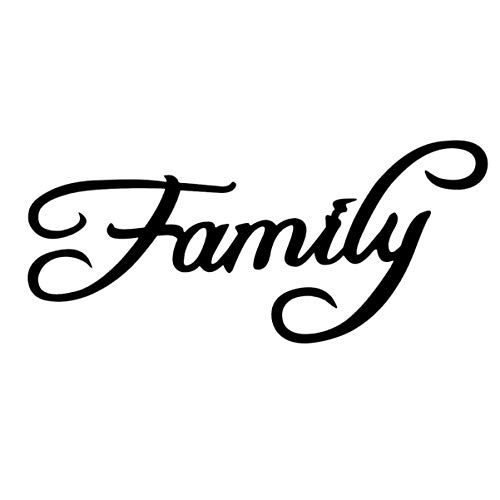 Garneck Wood Script Word Family Sign Black for Home Office Living Room Desk Shelf Wall Decoration Art Crafts English Alphabet Sticker DIY Ornaments
