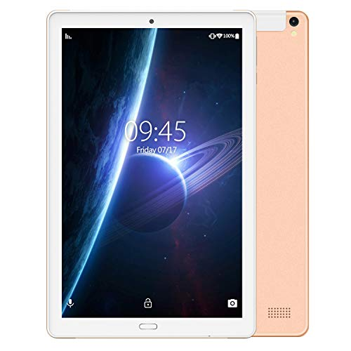 Tablet PC 10.1 Pollici LTE Dual SIM /WiFi tablet Android 8.1 con 3GB di RAM e 32GB ROM Batteria 8000mAh- Oro