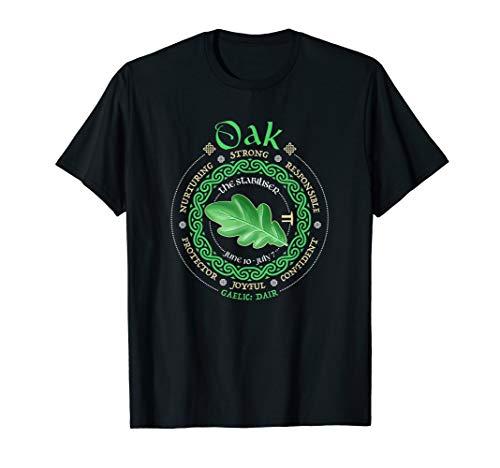 Celtic Tree Zodiac Druid Ogham Astrology Oak T-Shirt