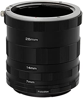 Fotodiox Canon EOS Macro Extension Tube Set Kit for Extreme Close-up, fits Canon EOS 1D, 1DS, Mark II, III, IV, 1DC, 1DX, ...