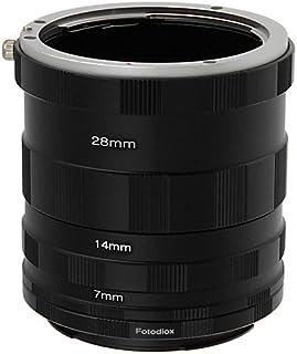 Fotodiox Canon EOS tubo de extensión para la fotografía macro - Tubo de extensión para Close-up para los objetivos Canon EOS 1D 1Ds Mark II III IV 5D Mark II 7D 10D 20D 30D 40D 50D 60D Digital Rebel XT xti xs xsi t1i t2i 300D 350D 400D 450D 500D 550D 1000D