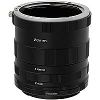 Fotodiox Canon EOS tubo de extensión para la fotografía macro - Tubo de extensión para Close-up para los objetivos Canon EOS 1D, 1Ds Mark II, III, IV, 5D Mark II, 7D, 10D, 20D, 30D, 40D, 50D, 60D, Digital Rebel XT, xti, xs, xsi, t1i, t2i, 300D, 350D, 400D, 450D, 500D, 550D, 1000D