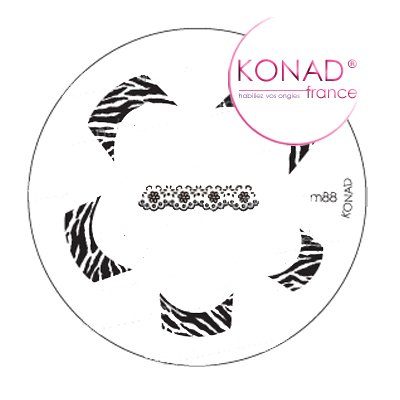Plaque disque motifs M88 Konad stamping nail art