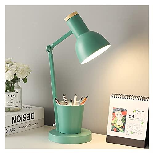 HBR lámpara para Escritorio Lámpara de Escritorio LED Ojo Caring Pen Porta Dimmer Dimmer Cálido Interruptor de luz Ahorro de energía Escritorio de iluminación Luz de Sala de Estar Dormitorio
