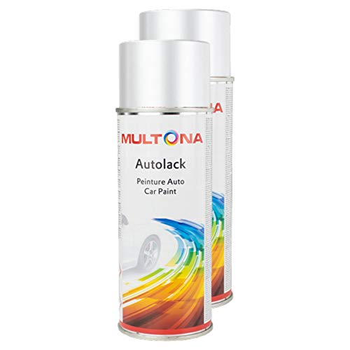 Kwasny 2X Multona Autolack Spraylack Lackspray Spray Lack Lackspray Spraylack Grau 0691 400 Ml